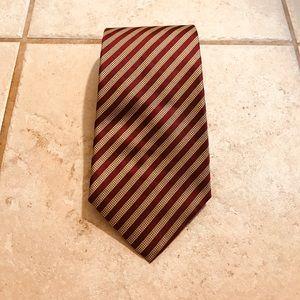 Men's new J Crew burgundy and gold necktie